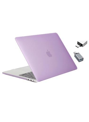 """Mcstorey Yeni MacBook Pro Touchbarlı A1706 A1708 A1989 A2159 13.3"""" Kılıf Kapak Hard case Mat Lila"""